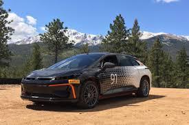 faraday future ff 91 takes on pikes peak auto express