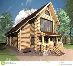wooden house stock illustration image 41619148