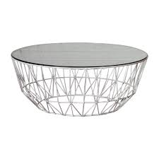 Wire Coffee Table Interiors Studio Wire Glass Coffee Table White Modern