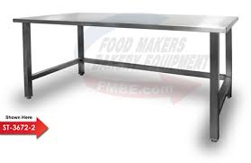 48 x 96 table stainless steel top bakery work table