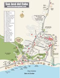 Map Of Cabo Mexico by San Jose Del Cabo Map Los Cabos Guide Cabo Pinterest San