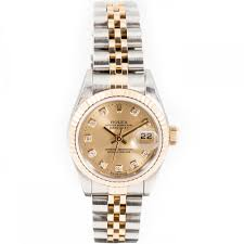 diamond rolex pre owned rolex ladies bi colour oyster perpetual diamond datejust