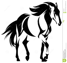 mustang horse drawing white mustang horse drawing