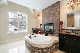 Bathtubs And Vanities 18 Master Bathrooms With Fireplaces Pictures