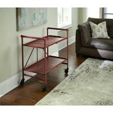 Dining Room Cart by Cosco Metal Slat Folding Serving Cart Walmart Com