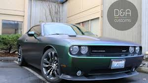 Dodge Challenger Colors - full wrap on dodge challenger with shift effect color seattle