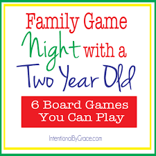 family nights 6 board to play with a two year
