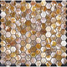 Mother Of Pearl Tiles For Kitchen And Bathroom Shell Hexagon - Seashell backsplash