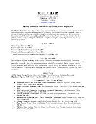 quality control resume sample resume quality assurance engineer
