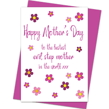 happy mother u0027s day card bestest evil step mother