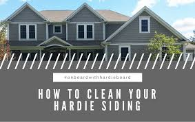 how to clean your hardie siding