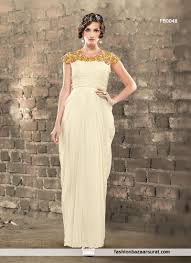 buy captivating cream jacquard party wear gown online buy gown