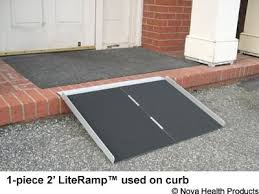 amazon com 5 foot single fold literamp portable wheelchair ramp
