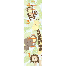 Jungle Wall Decals Wallpops 52 In X 13 In Jungle Friends Growth Chart Wall Decal