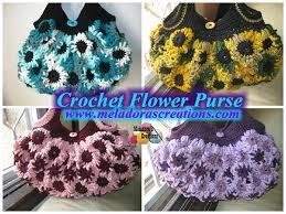 Free Pattern For Crochet Flower - crochet flower purse u2013 free crochet pattern and video tutorials
