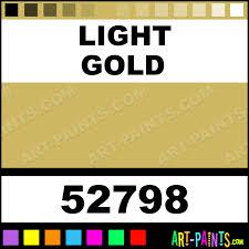 light gold standard series acrylic paints 52798 light gold