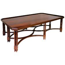 mahogany coffee table by madeleine castaing for sale at 1stdibs