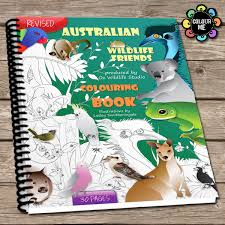 australian wildlife colouring pages spiral bound book