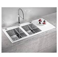 Alveus Crystalix  Stainless Steel Sink Appliance House - Black glass kitchen sink