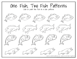 vintage fish fish red fish blue fish coloring pages