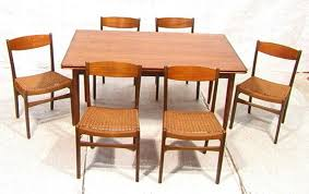dining room sets 6 chairs mm moreddi danish teak dining table 6 chairs re