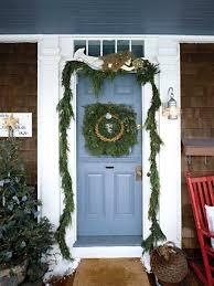 how to hang garland around front door i25 for excellent interior