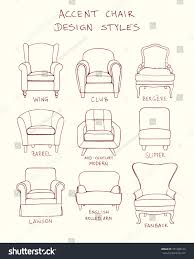 vector visual guide accent chair design stock vector 351988124
