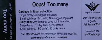 garbage collection kitchener garbage and large bulky item collection