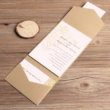 affordable pocket wedding invitations affordable golden chandelier pocket wedding invitations ewpi044 as