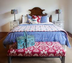 novelty print dessert bedroom traditional with ikat bench