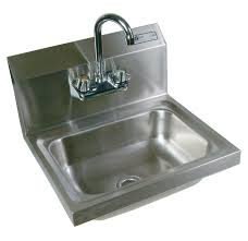 stainless steel hand sink wall mount stainless steel commercial hand sink john boos