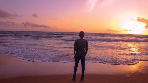 sunset alone wallpapers lonely beach free pictures on pixabay