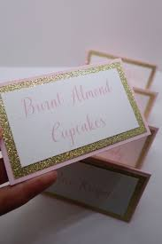 Table Tent Cards Pink And Gold Buffet Label Tent Cards Candy Buffet Bar
