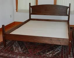 Custom Platform Bed Custom Made Walnut Hartford Platform Bed Handmade In Vermont