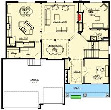 craftsman floor plan craftsman with elegant master suite 73335hs architectural