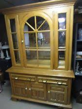 solid oak china cabinet keller furniture ebay