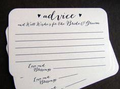 Wedding Wishes And Advice Cards Bride And Groom Advice Notes Marriage Advice Cards Marriage