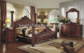 Classic Bedroom Sets F 8008 European Style Luxury Bedroom Furniture King Canopy Bed