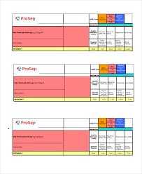 Decision Matrix Excel Template Excel Matrix Template 6 Free Excel Documents Free