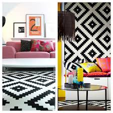 Ikea Rugs by Black And White Geometric Outdoor Rug Creative Rugs Decoration