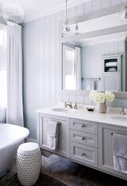 Cottage Style Bathroom Ideas by House Tour Coastal Style Cottage Glass Pendants Bathroom