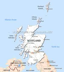 Map Of Scotland And England Scotland Map
