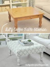 Diy Ottoman Coffee Table Living Room Diy Turn A Coffee Table Into An Upholstered Ottoman