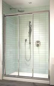 3 Panel Shower Door Pretty Tri Panel Shower Door Images The Best Bathroom Ideas