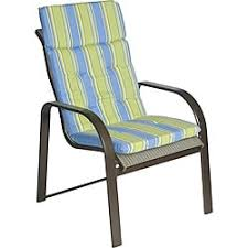 orange with beige high back patio chair cushions set of 2 free