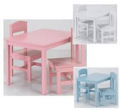 White Kids Desk And Chair Set by Children Table And Chair Set