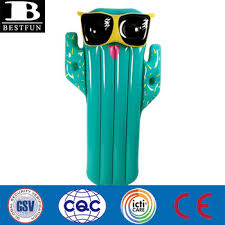 high quality giant inflatable cactus pool float durable pvc