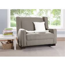 Upholstered Rocking Chairs For Nursery Baby Relax Rocking Chair Grey Upholstered