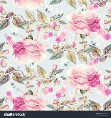 Roses And Butterflies - roses butterflies seamless pattern stock illustration 429818668
