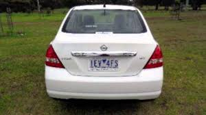 nissan 2008 white 2008 nissan tiida c11 my07 st white 4 speed automatic sedan youtube